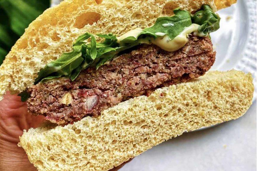 Fit Revolution recipes Red bean burger